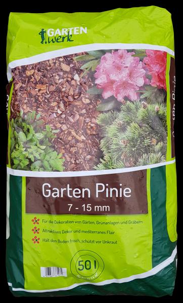 Gartenwerk Pinienrinde fein 7-15mm - 50 Liter