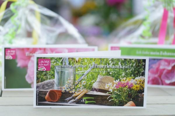 Geschenkgutschein 15€ für die Landgärtnerei Beier - Motiv: Garten