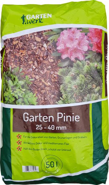 Gartenwerk Pinienrinde grob 25-40mm - 50 Liter