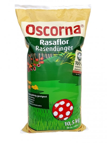Oscorna-Rasaflor Rasendünger - 10,5 kg Organischer NPK-Dünger