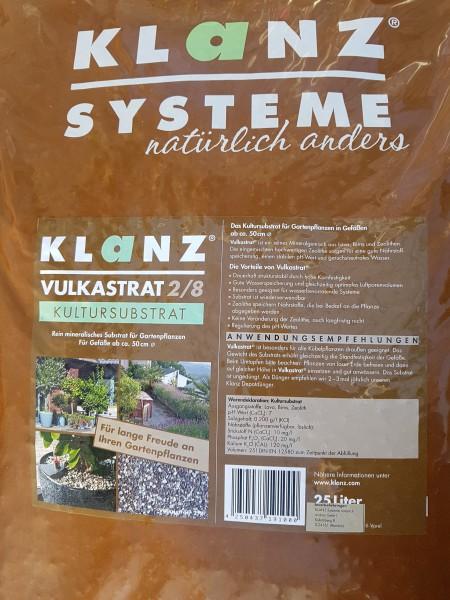 Klanz Vulkastrat® 2/8 (ungedüngt) - 25 Liter