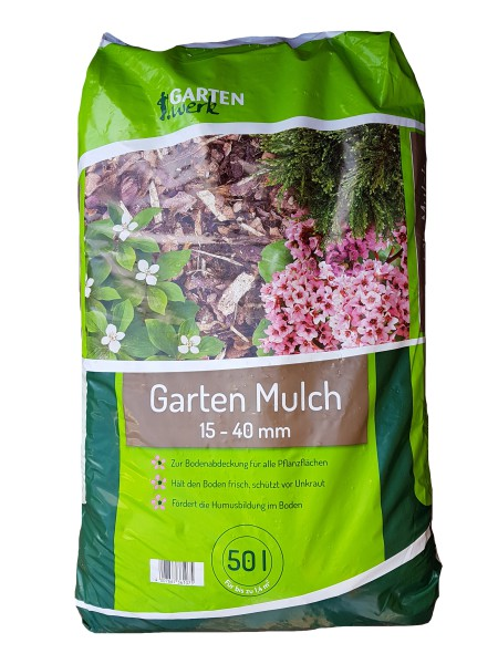 Gartenwerk Rindenmulch 15-40mm - 50 Liter