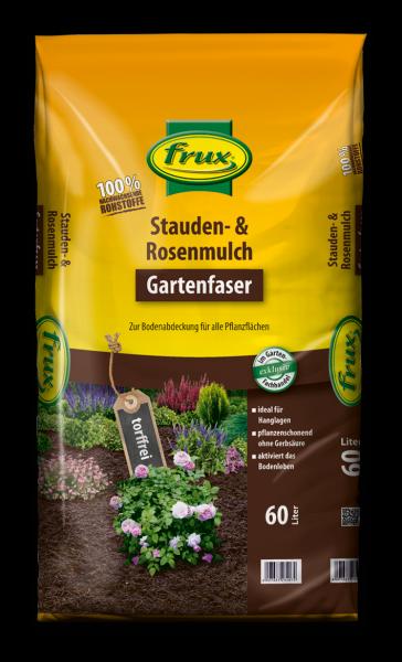 frux Bio-Stauden- und Rosenmulch Gartenfaser - 60 Liter