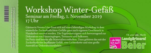 Mein Wintergefäß - Workshop 2019 - Ticket