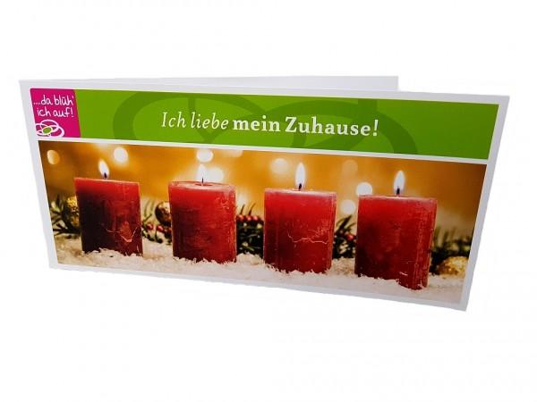 Geschenkgutschein 35€ - Motiv: Brennende Kerzen