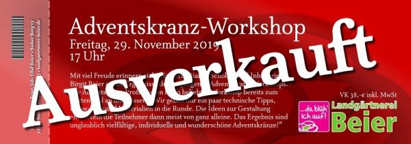 Adventskranz-Workshop 2019 - Ticket