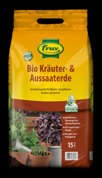 Frux Bio-Kräuter- u. Aussaaterde - 15 Liter
